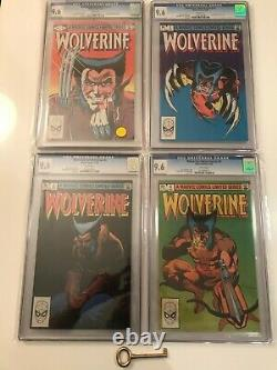 Wolverine Limited Series #1 2 3 4 Lot All CGC 9.6 with White Pages! X-Men